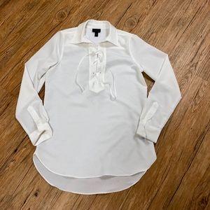 Lace up tunic blouse
